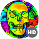 Rainbow Skulls Background - Pack Of 6 Videos - VideoHive Item for Sale