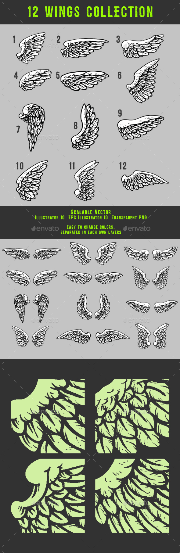 GraphicRiver Wings Collection 20306696