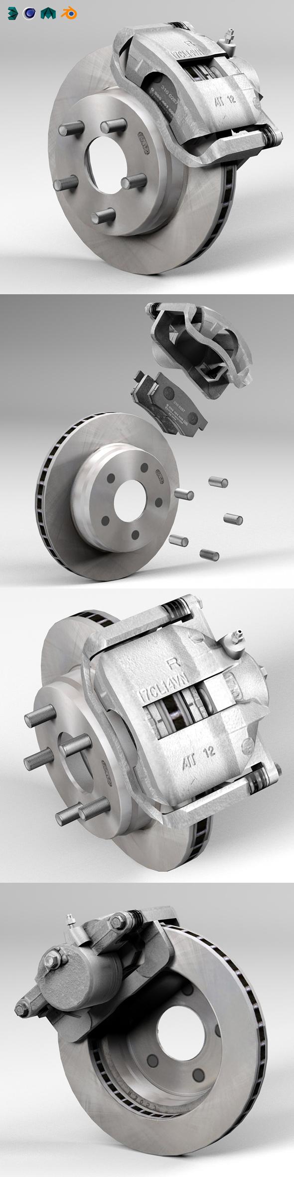 3DOcean Car disc brake 20306731