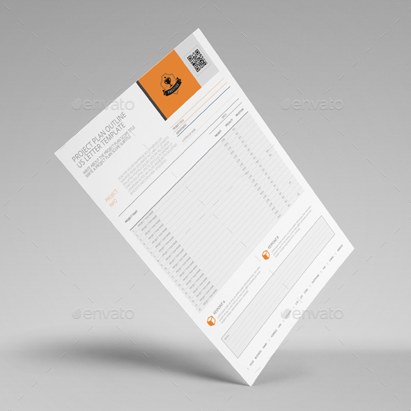 Project Plan Outline Us Letter Template By Keboto | Graphicriver