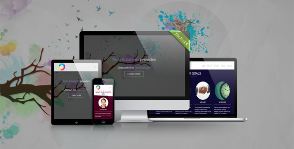 Tech Solutions - Responsive HTML5 Template
