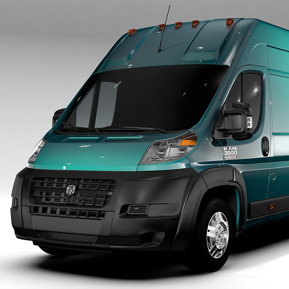 Ram Promaster Cargo 3500 H3 159WB EXT 2016 - 3DOcean Item for Sale