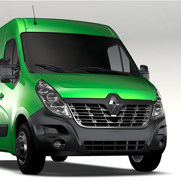 Renault Master L2H2 Van 2017 - 3DOcean Item for Sale