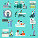 Medical Healthcare Activities Cliparts - GraphicRiver Item for Sale