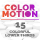 ColorMotion - 15 Colorful Lower Thirds Pack - VideoHive Item for Sale
