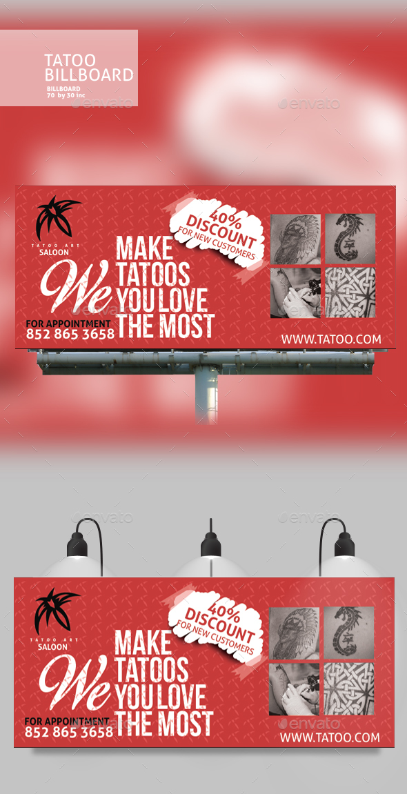 GraphicRiver Tattoo Billboard Design 20307257