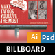 Tattoo Billboard Design