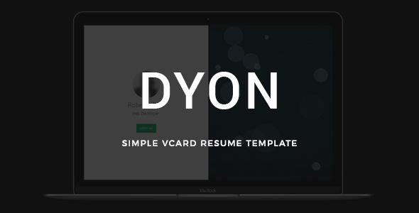 DYON - Simple vCard Resume Template