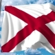 Waving Flag of Alabama