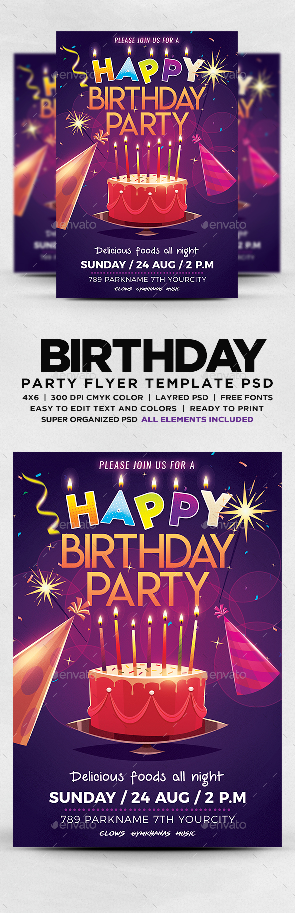 GraphicRiver Happy Birthday Party Flyer 20307347