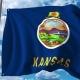 Waving Flag of Kansas