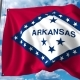 Waving Flag of Arkansas