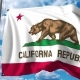Waving Flag of California