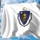 Waving Flag of Massachusetts