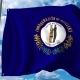 Waving Flag of Kentucky