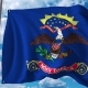 Waving Flag of North Dakota