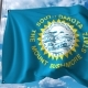 Waving Flag of South Dakota