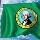 Waving Flag of Washington