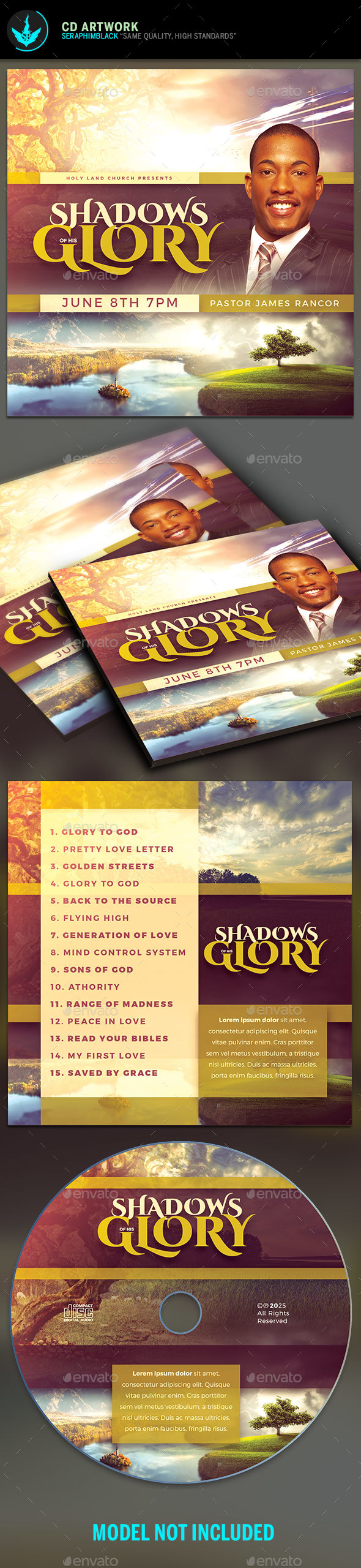 Shadows of His Glory CD Artwork Template - CD & DVD Artwork Print Templates
