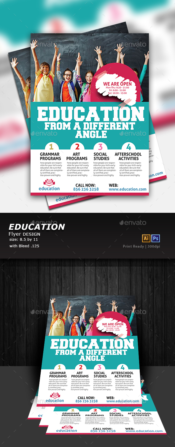 GraphicRiver Education Flyer 20307397