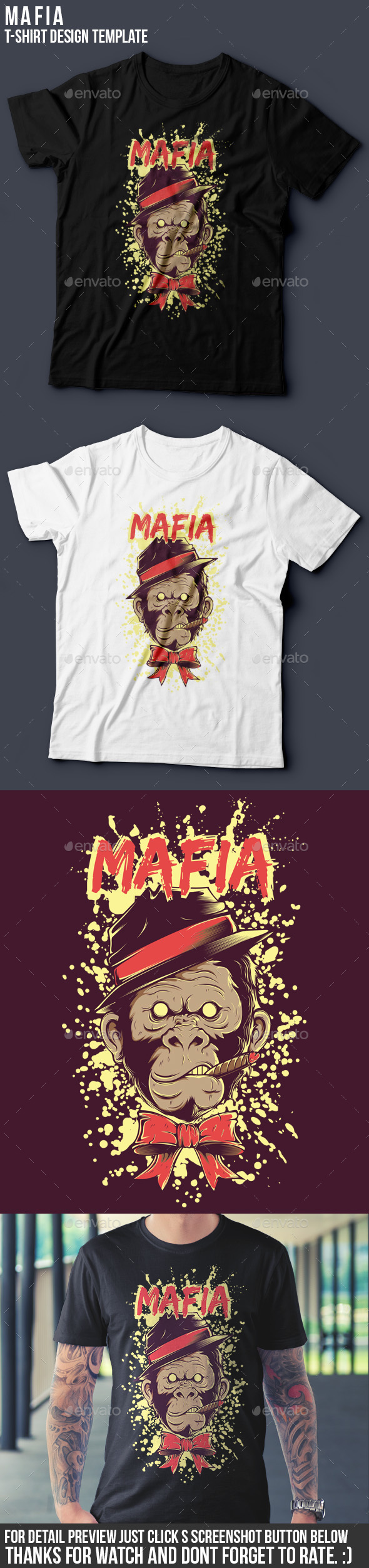 Mafia T-shirt Template