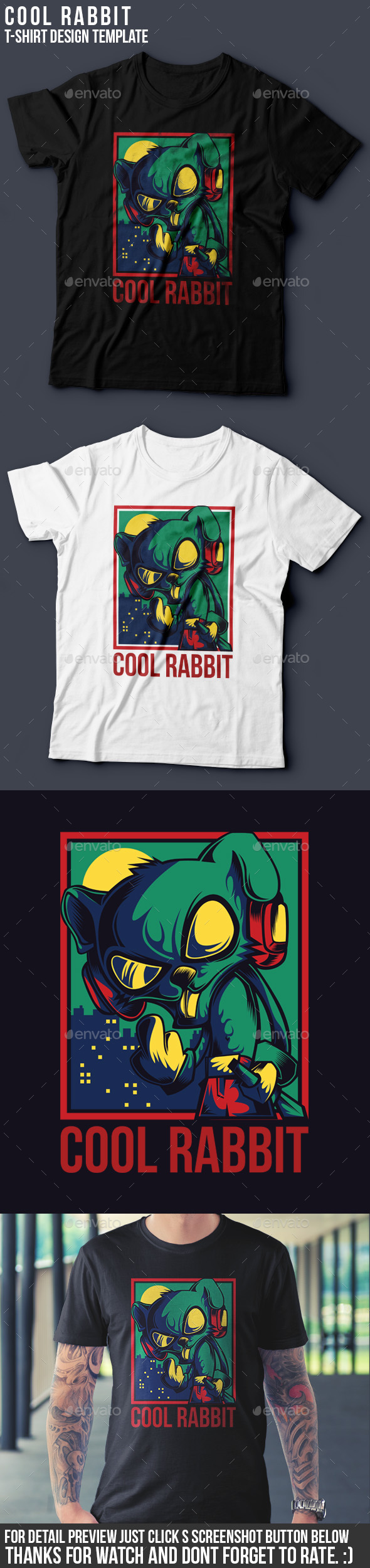Cool Rabbit - Funny Designs