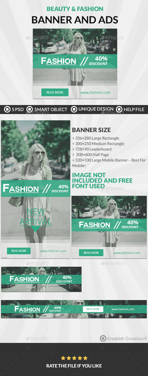 Fashion Banners And Ads - Banners & Ads Web Elements