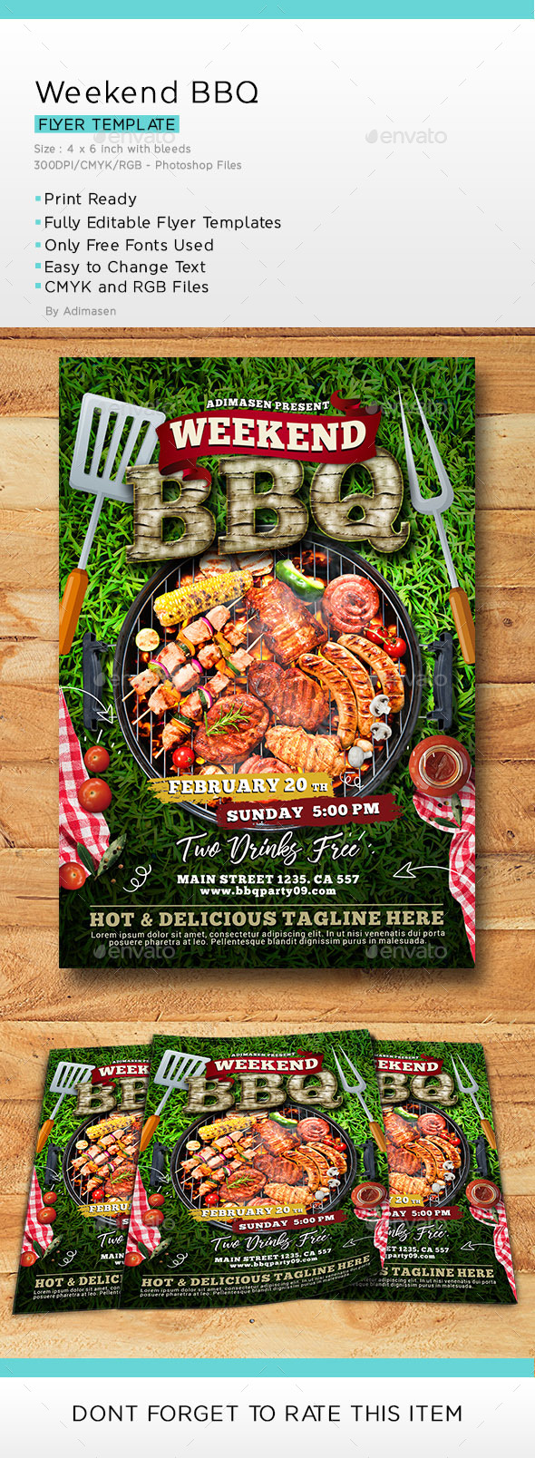 Weekend BBQ Flyer Template - Events Flyers