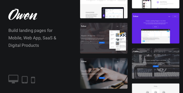 Owen - Responsive Landing Page for Startups & Apps