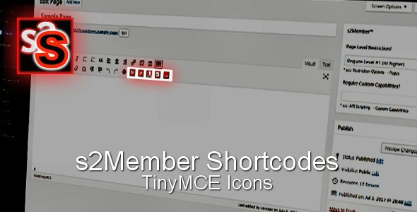 s2S – s2Member TinyMCE Shorcode Icons (Miscellaneous) images