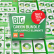 Bundle Green Infographic Elements