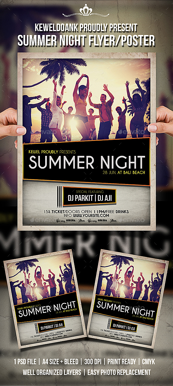 Summer Night Flyer / Poster - Clubs & Parties Events