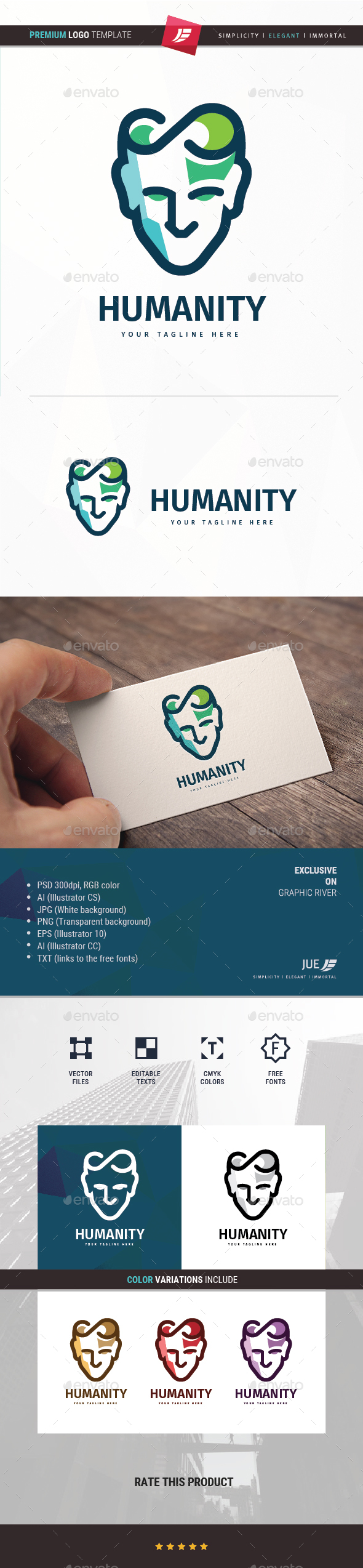 GraphicRiver Humanity Logo 20307585