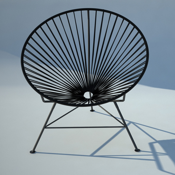 Acapulco wire chair - 3DOcean Item for Sale