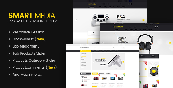 Image of Smart media Responsive Prestashop 1.6,1.7 Theme