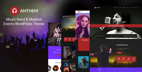 Anthem - Music Band & Musical Events WordPress Theme - Music and Bands Entertainment