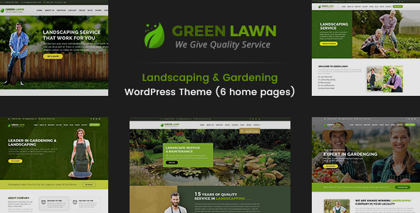 Green Lawn - Landscaping WordPress Theme
