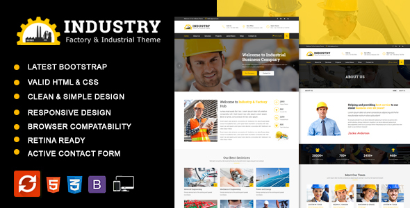 Industry - Factory & Industrial Business HTML Template