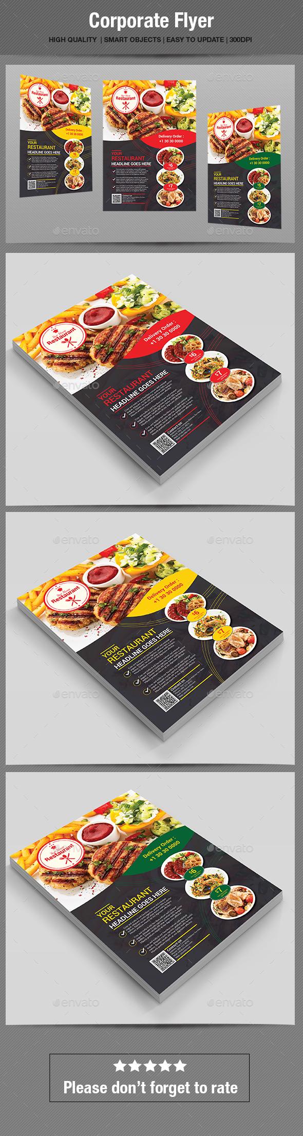 GraphicRiver Food Flyer 20286387