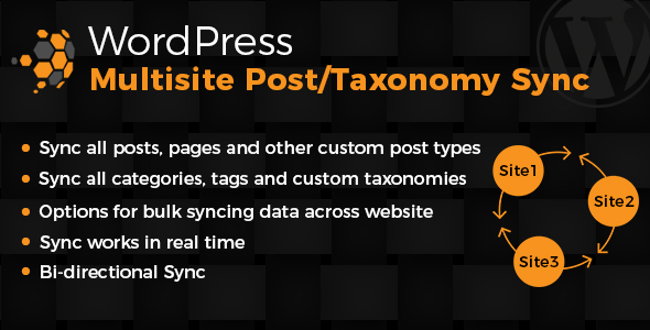 Wordpress Multisite Posts & Taxonomies Sync - CodeCanyon Item for Sale