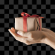 Hold Gift Box With Alpha
