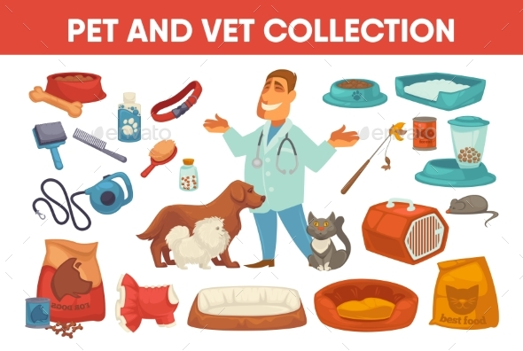 GraphicRiver Pet Stuff and Supply Set 20308133