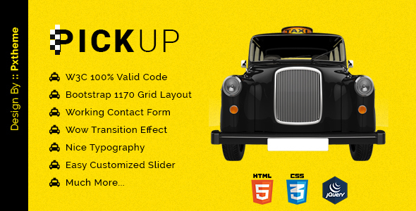 Pickup Cab PSD HTML Template - Travel Retail