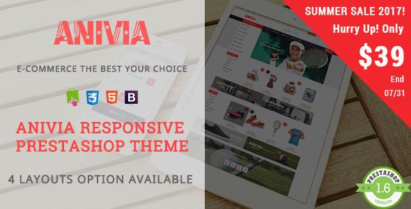 Anivia - Shopping Sports, Shoes Responsive Prestashop Theme