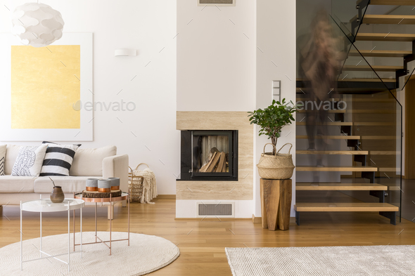 Wooden design of lounge - Stock Photo - Images