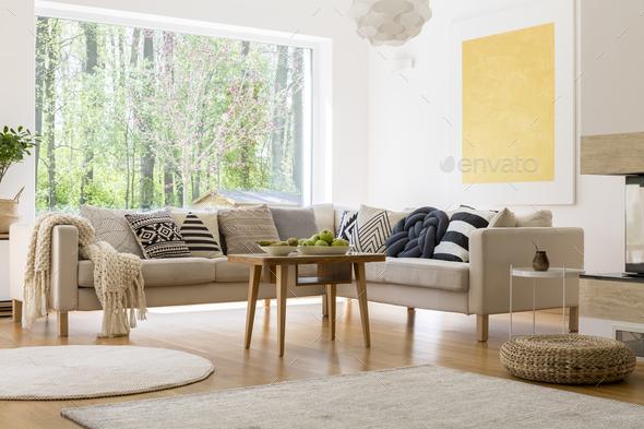Cozy white room - Stock Photo - Images