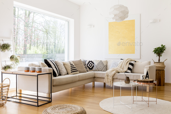 Interior of spacious lounge - Stock Photo - Images