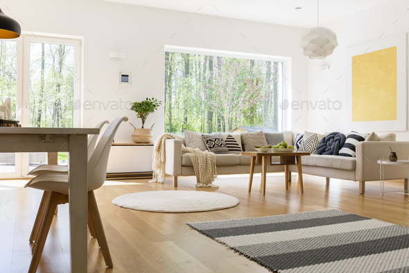 White and wooden decor - Stock Photo - Images