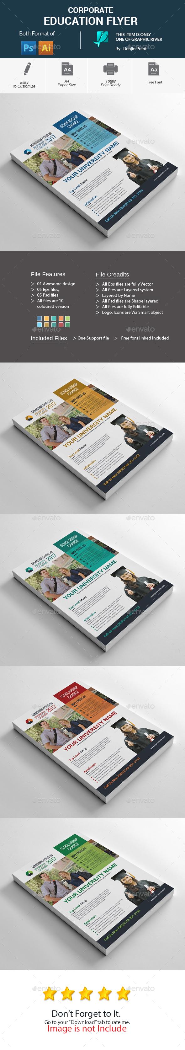 GraphicRiver Corporate Education Flyer 20308479