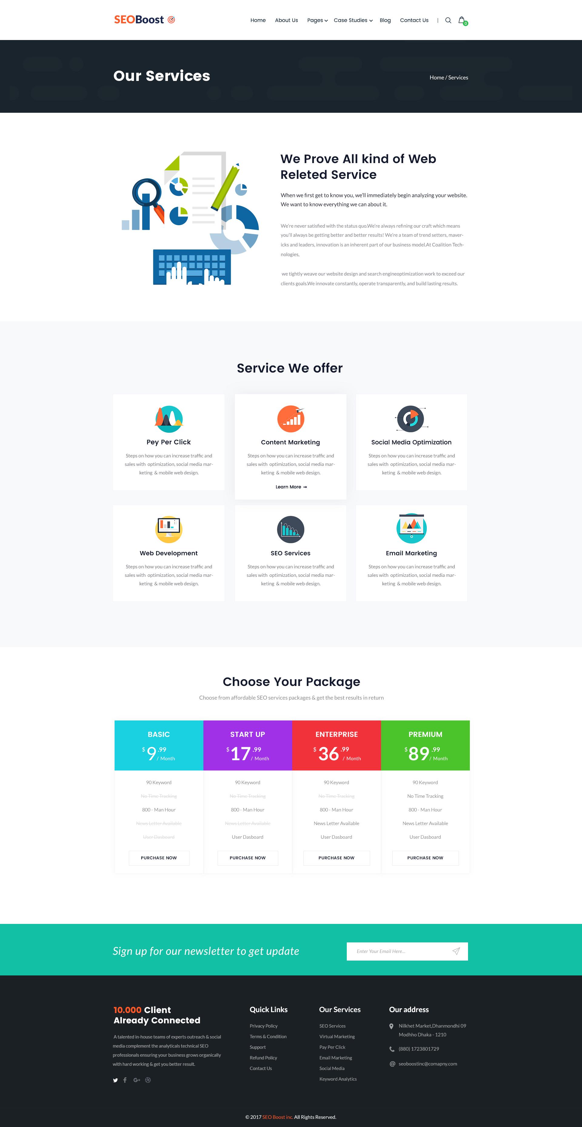 SEOBoost - SEO & Digital Marketing Agency PSD Template by CreativeGigs